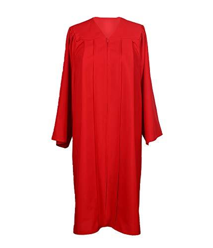 GradPlaza Unisex Adult Graduation Gown Economic Choir Robe Matte Gown Only Red