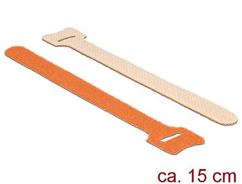 DeLOCK cavo di collegamento velcro 10 PZ L150 x B12 mm Arancione 18695
