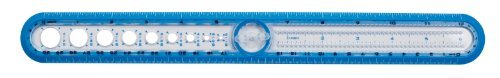 Maped Helix USA Circle Ruler, 12-Inch, Color May Vary, Assorted Colors (36001) by Maped