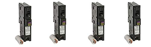 Square D by Schneider Electric HOM120DFC Homeline 20-Amp Single-Pole Dual Function Circuit Breaker, 1-Inch Format (4-(Pack))