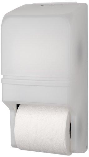 Palmer Fixture RD0025-03 Two-Roll Standard Tissue Dispenser, White Translucent