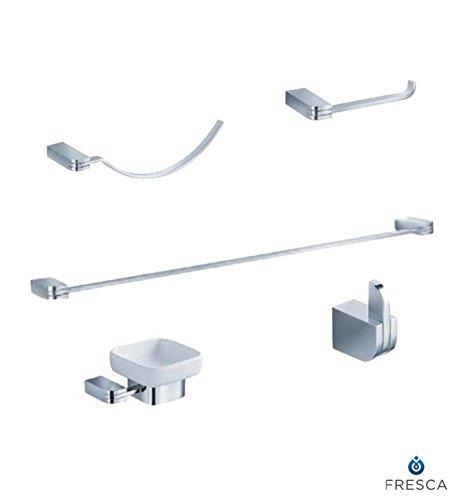 Fresca Bath FAC1300 Solido 5 Piece Bathroom Accessory Set, Chrome