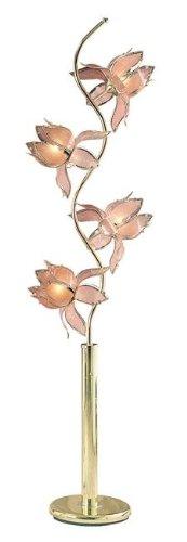 OK-9334G 73 in. Brass Flower Lamp