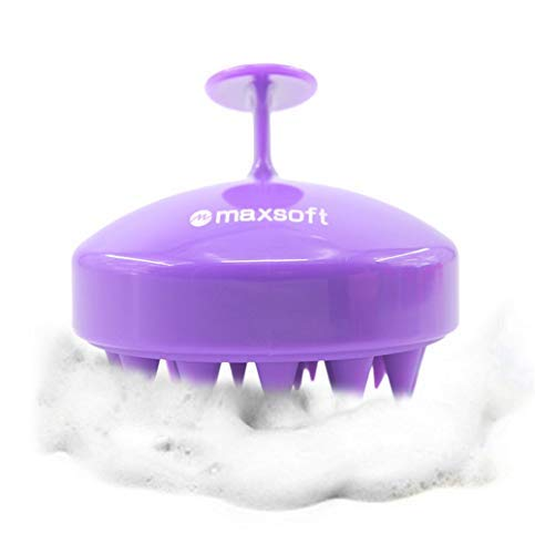 Hair Scalp Massager Shampoo Brush, MAXSOFT Scalp Care Brush (Purple)