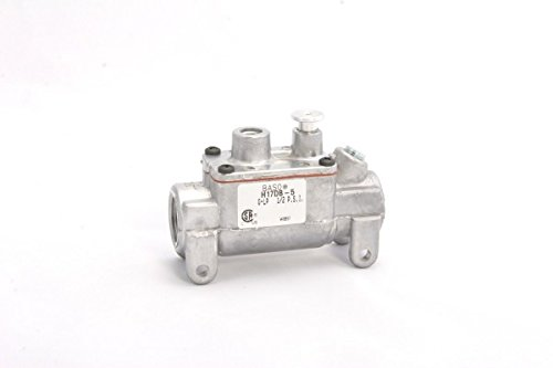BASO H17BB-1C Series H17 Automatic Shutoff Pilot Gas Valve, High Temperature Power Unit, 1/4'' x 1/4'' Inlet/Outlet, 2.28'' Height, 1.25'' Width, 3'' Length, Aluminum by Baso