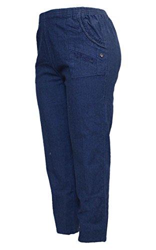 Jeans Barfly Taille Fashion 03 Blue Unique Bleu Femme Droit Sf5arvwfq