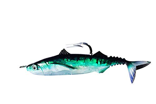- EAT MY TACKLE Iridescent Green Sardine Rigged Fishing Lure