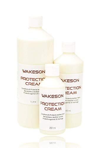 Wakeson Leather Condition and Protection Cream for all leather goods, Car Seats, Shoes, Jacket, Sofa, Chairs UV Protection (250ml):