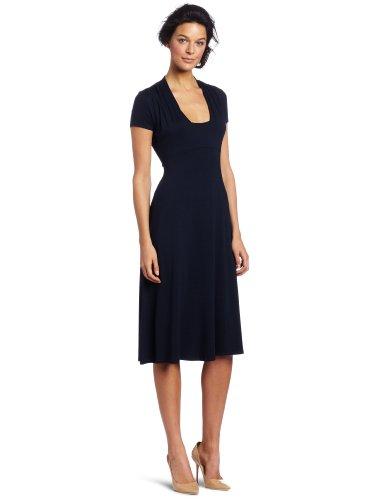 Red Dot Women's Cap Sleeve Tea Length Dress