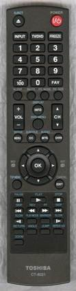 Toshiba CT-8021 LCD TV/ DVD Combo Remote Control (Substitute for CT-8027)