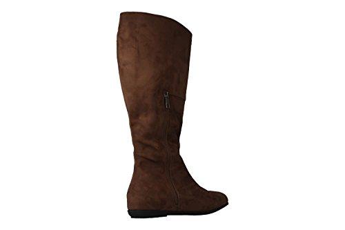 Andres Machado––Botas de mujer marrón Guantes en tallas especiales