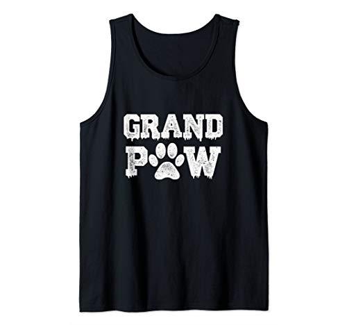 Tank Top Doggie T-shirt - Mens Funny Dog Shirt Grand Paw Doggy Puppy Lover Grandpa Vintage Tank Top