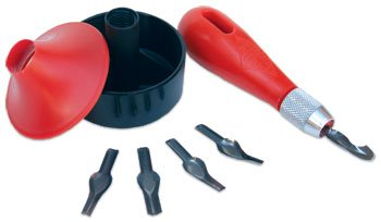 Essdee : Lino 3 in 1 Cutting Tool Set, Baren, Handle and 5 Blades by Essdee