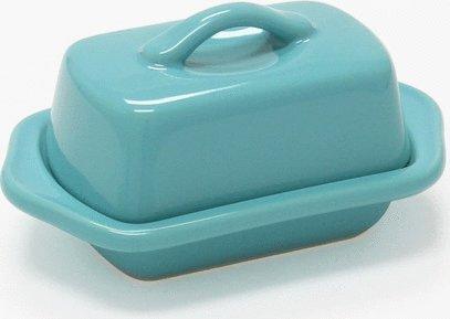 Chantal Aqua Blue Ceramic Mini 5 Inch Butter Dish