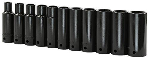 EPAuto 1/2-Inch Drive Metric Deep Impact Socket Set, 11 ()