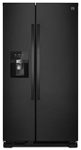 Kenmore 51119 25 cu. ft. Side-by-Side Refrigerator with Ice and Water Dispenser, Black