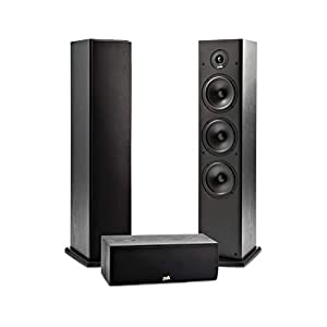 Polk Audio T Series 3 Channel Home Theater Bundle | Includes One (1) T30 Center Channel & Two (2) T50 Tower Speakers…