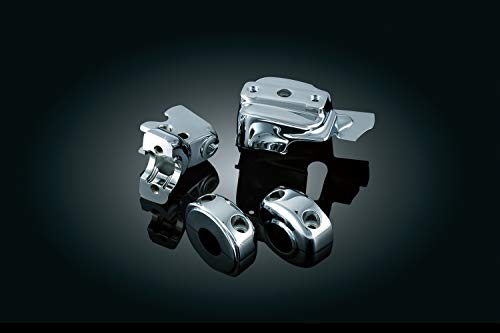 - Kuryakyn 9119 Motorcycle Handlebar Accessory: Complete Chrome Replacement Brake and Clutch Control Dress-Up Kit for 1996-2017 Harley-Davidson Motorcycles, Dual Disc