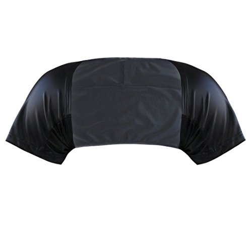 TiaoBug Mens Short Sleeves Faux Leather Bolero Arm Cover Sleeves Shrug Dancewear Black X-Large