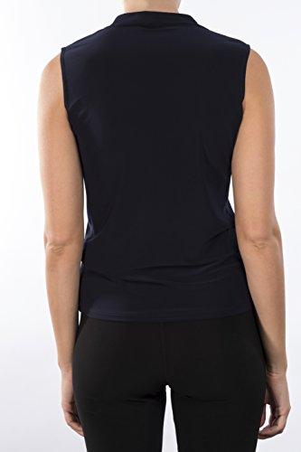 Joseph Ribkoff Twisted Neck Midnight Blue Sleeveless Shell Style 171129 Size 14 by Joseph Ribkoff (Image #2)