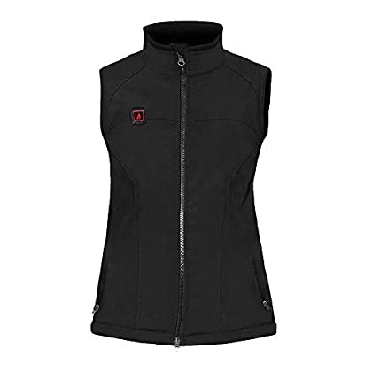 Vests ActionHeat 5V Heated Vest for Women – Sleeveless Heated Jacket – Lightweight Softshell Battery Heated Clothing with USB Charging for Outdoor Camping, Hiking, Hunting, Motorcycle – Black