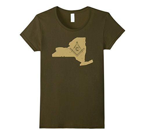 Women York New Stores Clothing (Women's New York Mason Fraternity Shirt Masonic Clothing XL Olive)