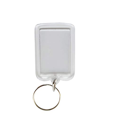 DIY Keychain – Acrylic Clear Picture Keychains 1.97 x 1.3 inch Rectangle and 1.77 inch Round Personalized Custom Photo Insert Bulk Pack Blank Frame Keychains Keyring(50 Pieces) (Transparent)
