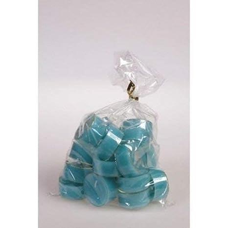 20 original D/änische Teelichter ohne Duft im Acryl-Cup farbig durchgef/ärbt marineblau
