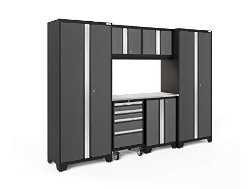 NewAge Products Bold 3.0 Gray 7 Piece Set, Garage Cabinets, 50442