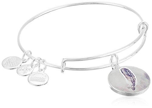 Alex-and-Ani-Art-Infusion-Feather-Expandable-Rafaelian-Shiny-Silver-Bangle-Bracelet