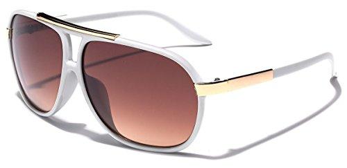 [Classic 80s Fashion Aviator Sunglasses Retro Vintage Men's Women's Glasses] (80s Male Fashion)
