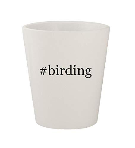 #birding - Ceramic White Hashtag 1.5oz Shot - Supplies Birthday 2 Party Rio