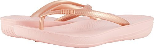 FitFlop Damen Iqushion Ergonomic Flip-Flops Peeptoe Sandalen, Gold  UK5|Nude / Rose Gold Mix