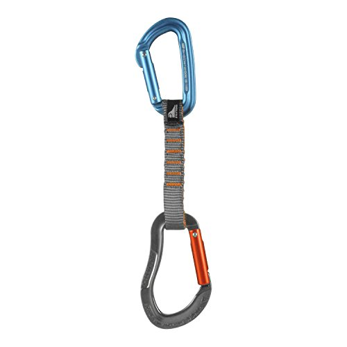 Fusion Climb 6 Pack 11cm Quickdraw Set with Contigua Blue Straight Gate Carabiner/Techno Zoom Orange Straight Gate Carabiner