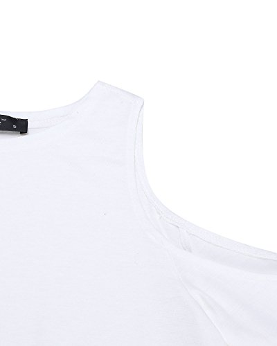 Playa Casual 3 Larga Mangas Mujer Oficina 4 Camiseta Blanco Elegante Styledome Para H8qnfXSAw