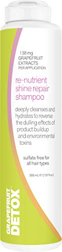 Grapefruit Detox Re-Nutrient Shine Repair Shampoo | Reverse the Dulling Effect of Hair Product Buildup and Hard Water, 13.1 Fl Oz