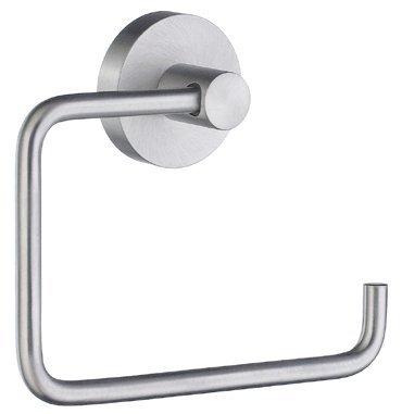 Smedbo Chrome Holder - Smedbo SME HS341 Toilet Roll Euro Holder Without Lid, Brushed Chrome,