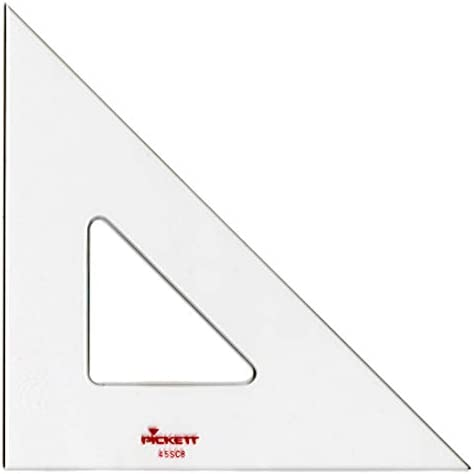1 Each Pickett Student 45 Degree Triangle 8 Long Clear