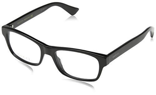 Gucci GG0006O Optical Frame 001 Black Black Transparent 53 mm (Optical Frames)