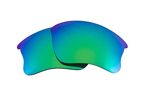 Best SEEK Replacement Lenses for Oakley FLAK JACKET XLJ - Polarized Green Mirror - Green Polarized Replacement Lenses