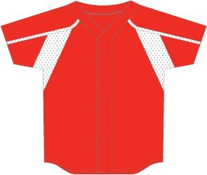 3N2 2500W-3506-XXL Womens Faux Full-Button, Red - 2X-Large Jersey