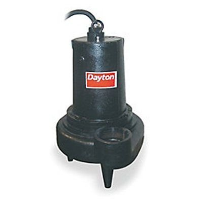 2 Hp,DAYTON Pump, Sewage, 480v, 3 Ph, 1750 Rpm, #4LE19, 25' Cord by DAYTON