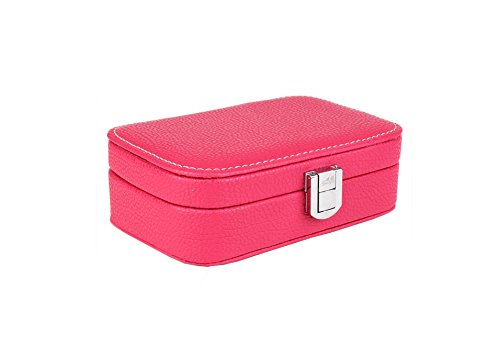 4 in 1 Leatherette Watch Organizer with 4 compartment (red) - 1