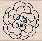 Designer Blossom Wood Mounted Rubber Stamp (E4696) (Hero Arts Blossom)