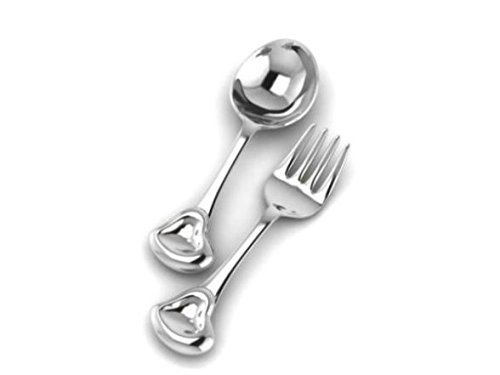 Krysaliis Silver Spoon & Fork Set, Sweetheart