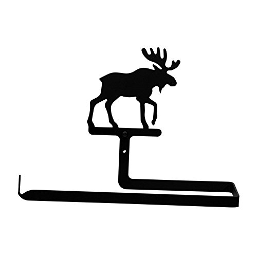 Iron Moose Horizontal Wall Mount Kitchen Paper Towel Holder - Heavy Duty Metal Paper Towel Dispenser, Kitchen Towel Roll Holder (Wall Mount Votive Holder)