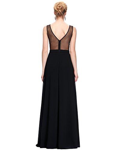 maniche Senza Dress Vestito Long St064 Donna Belle 1 fasciante Prom wqPAXYZ