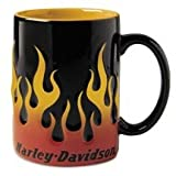 Harley-Davidson Sculpted Flame Mug. Set of 4. 99221-03V