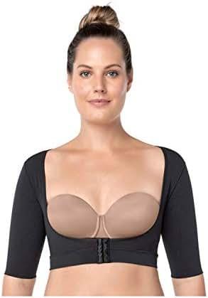 Leonisa Seamless Slimming Upper Arm Shaper Compression Vest with Posture Corrector