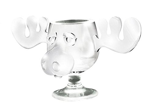 National Lampoon's Christmas Vacation Clear Glass Griswold Moose Mug 8 oz. (Jelly Of The Month Club Gag Gift)